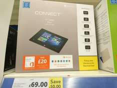 """32gb 10.1"""" Connect Windows 10 Tablet £69 @ Tesco Instore"""