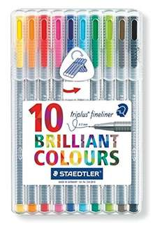 Staedtler Triplus Fineliners Asstd 10 pack £2.63 tesco direct click and collect