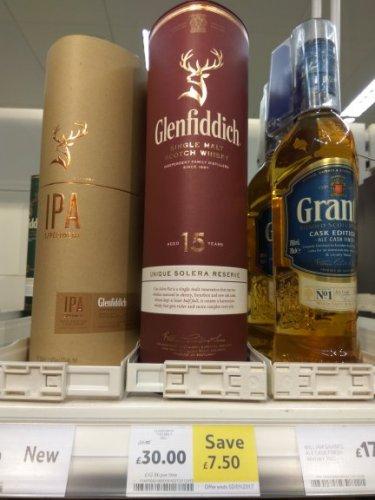 Glenfiddich 15 yo £30 @ tesco