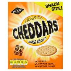 Jacob's Baked Cheddars Cheese Biscuits 185g - 50p at Asda