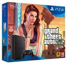 PlayStation 4 500GB Slim with GTA Vx09, FIFA 17 & x09NOW TV Movies 2 Month Sky Cinema Pass- £219.99 @ Game