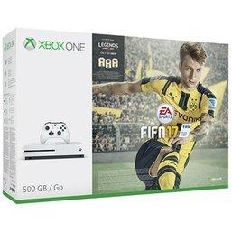 Game - Microsoft Xbox One S White 500GB, Fifa 17 & NOW TV Movies 2 Month SKY Cinema Pass