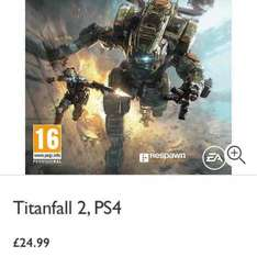 Titanfall 2 PS4 also £24.99 instore @ John Lewis or £2 C+C / £3.50 Home Delivery (With 2 Year Guarantee)