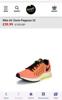 nike air pegasus 32 £39.99 (+ £3.95 Del ) @ Bargain Crazy