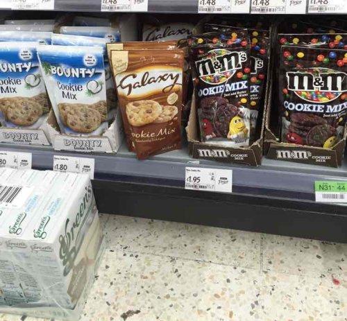 Bounty Galaxy M&M cookie mix. £1.80/£1.95 at Asda