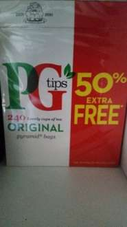 Pg tea bags 160+50% 240 bags @ Home Bargains for £3.49