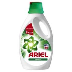 Ariel Stain Remover  Laundry Liquid - Original 3L (60 Washes) @ B&M Bargains for £6.99