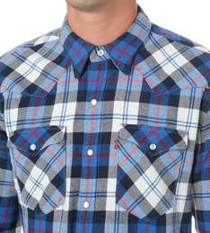 LEVI'S Barstow Western checked cotton shirt at Selfridges for £20 delivered