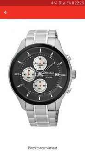 Seiko Chronograph Black Dial - was £179.99 now £87.99 @ Argos