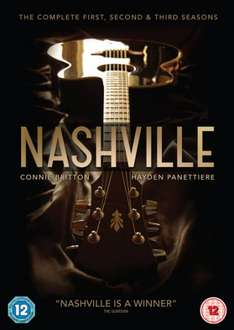 Nashville: Complete Seasons 1-3 DVD Boxset £19.99 with free delivery @ HMV on-line (amazon same price but non-prime users need to add a 1p item to get free delivery)