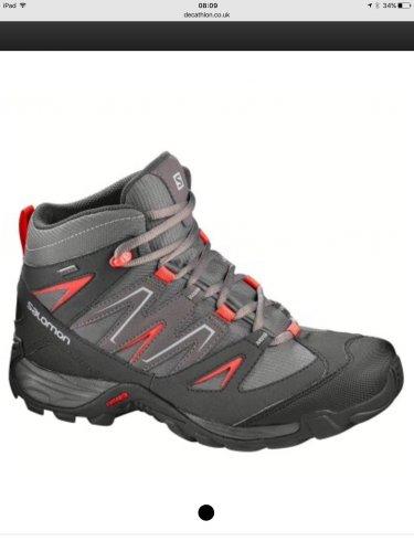 Salomon Nogari Mid ladies walking hiking shoe GTX Goretex (sizes 4,5,5.5,6.5,7) only £39.99 @ decathlon (free c&c to local Asda store)