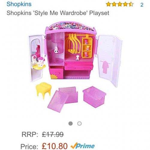 Shopkins style me wardrobe Playset. Amazon Prime £10.80 or £15.55 non prime
