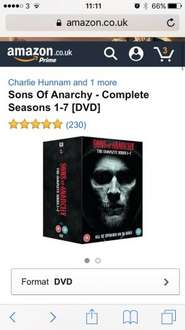 Sons of anarchy complete box set £24.99 + £1 credit @ Amazon