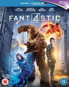 Fantastic Four Blu-ray and UV copy £3.99 on Zavvi.com (Free delivery if spending over £10)