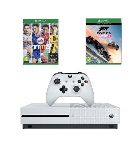Xbox One S White 500GB Console + FIFA 17 + Forza Horizon 3 £299.99 @ Studio