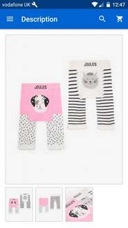Joules eBay Outlet 2- pack Baby Lively Character Soft Knitted Tights / Leggings Dalmatian/Cat £6.95 Ebay