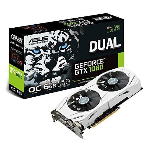 ASUS NVIDIA GeForce GTX 1060 6 GB GDDR5 VR Ready DUAL OC Graphics Card - Black £16.26 @ Scan / Amazon