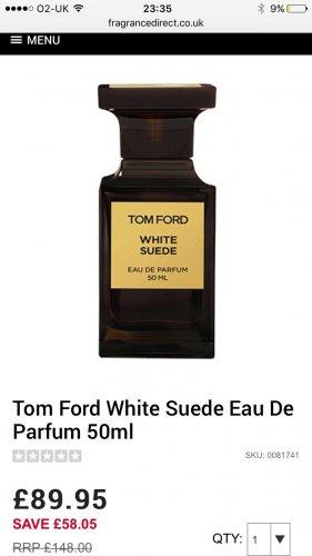 Tom Ford White Suede Eau De Parfum 50ml £89.95 @ Fragrance Direct