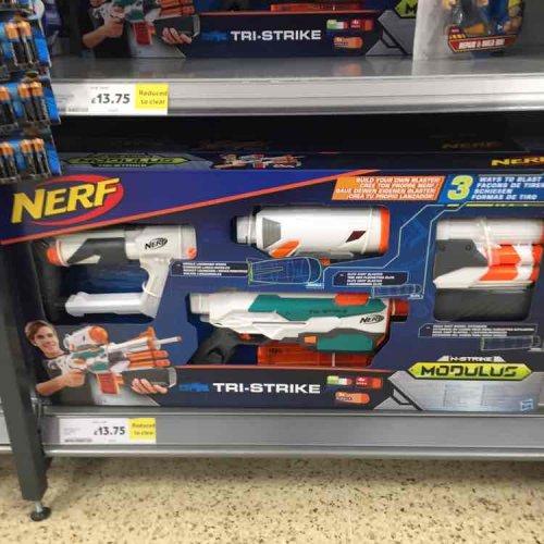Nerf Tri-strike - £13.75 Tesco instore
