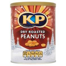 KP dry roasted peanuts 450g £1.25 instore and online at Iceland