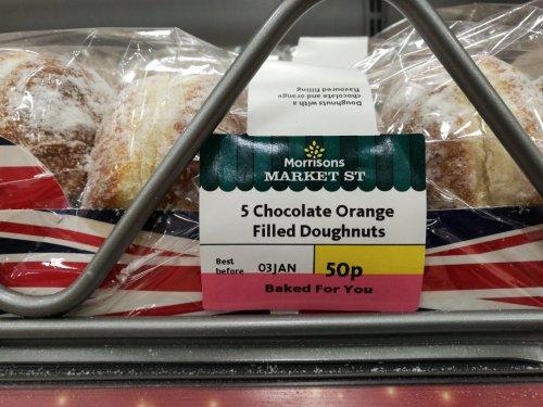 Chocolate Orange filled doughnuts @ Morrisons - 50p