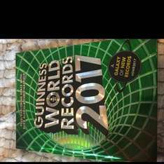 Guinness book of world records 2017 £3 (reduced from £20)  at Asda