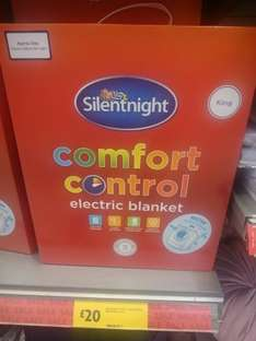 Silentnight Comfort Control Electric Blanket King Size £20 \Double £18 @ Morrisons