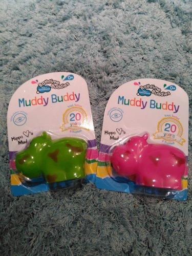 Home Bargains Bathtime Buddies Muddy Buddy Hippo Green / Pink 29p