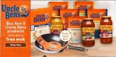 Free Wok with purchase of Uncle Bens Sweet and Sour £2 @ Iceland