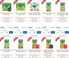 Tetley Green + Fruit Tea 87p Half Price in Tesco