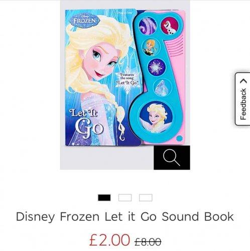 M&S frozen sound book £2