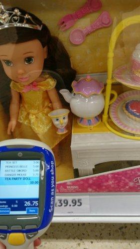 Belle's enchanted tea party set £10 tesco in store