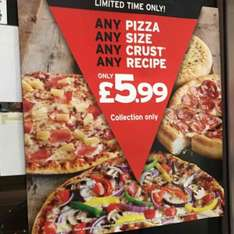Pizza Hut any pizza any size collection only! - £5.99