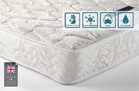 Sleep Easy Hypoallergenic Memory Foam Sprung Mattress Kingsize £79.89 @ Wowcher
