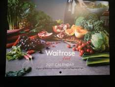 free calender with waitrose food magazine free to my waitrose members