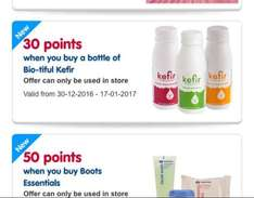 30 extra Boots points when you choose Kefir drink as part of your Monday meal deal