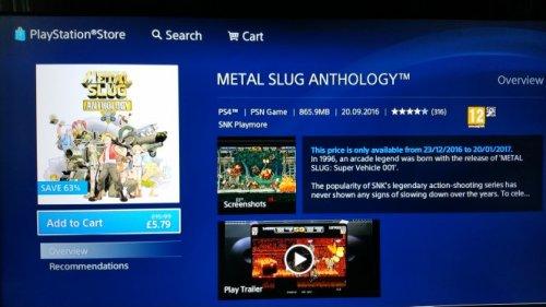 Metal Slug Anthology  £5.79 @ PSN uk