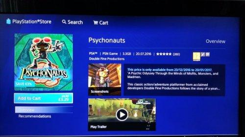 Psychonauts  £3.29 @ PSN uk