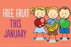 Free fruit -  giveaway throughout January at Co-op Food Stores (Lincolnshire stores / sign up required)