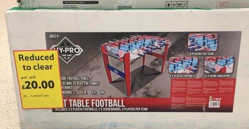 4ft football table 75% off - £20 instore @ Tesco