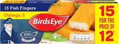 Birds Eye Alaska Pollock (58%) Omega 3 Fish Fingers (15 for the price of 12 = 420g) was £2.50 now £1.25 @ Iceland