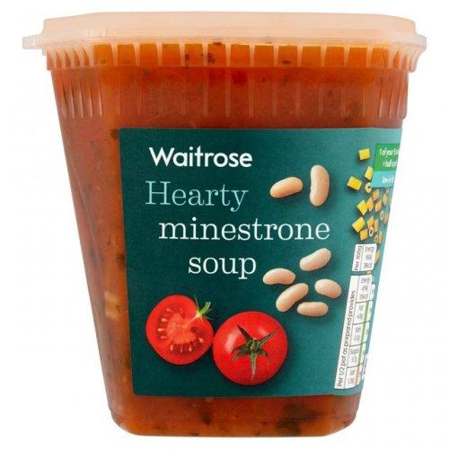 Waitrose Minestrone Soup 600g Half Price 95p