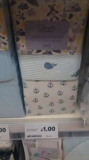 2 pack Jersey Moses basket sheets £1 in store Tesco