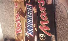Mars & Snickers 9 pack twix 7 pack £1.35 in-store Spar