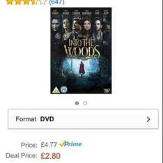 Into the woods Dvd £2.80  Prime Early Access Deal (click view offer)