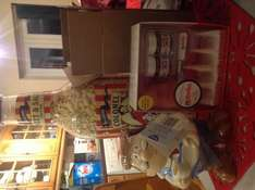 Updated. Argos food gifts £1 instore Nutella toast set, Popcorn bottle and Tetley storage