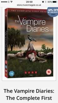 Vampire diaries season 1 £1.19 @ Music magpie
