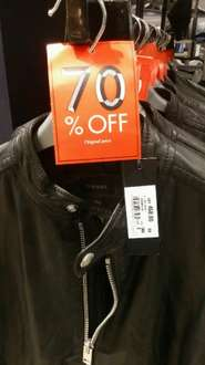 Diesel L-Edg leather jacket reduced from £460.00 to £160.00 in-store House of Fraser (Leeds City Centre)