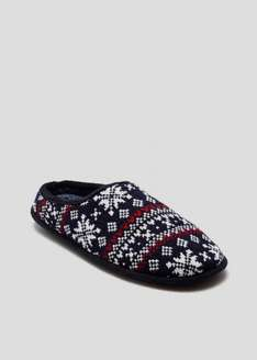 Fairisle Mule Slippers half price £4 at Matalan