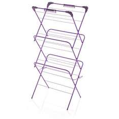 3 tier 14m clothes dryer airer rack £8 from Wilko blue purple red silver free c&c